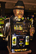 Antique Digital Art Prints - One Arm Bandit Slot Machine 20130308 Print by Wingsdomain Art and Photography