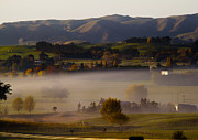 Early Morning Framed Prints - One Autumn Morning in Hawkes Bay Framed Print by Constance Fein Harding