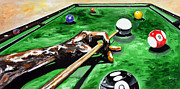Hobbies  Painting Originals - One Ball by Kevin Thomas