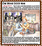 Bureau Mixed Media Prints - One Brave Good Man Print by Warren Clark
