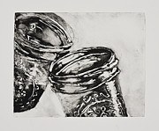 Glass Reflections Mixed Media Framed Prints - One Canning Jar to Another Framed Print by Erika Gakovich