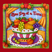 Fruits Sculpture Posters - One Day At A Time Poster by Amy Vangsgard