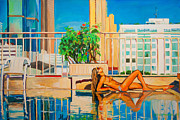 Bangkok Paintings - One day in the life of Julia by Natalia Baykalova