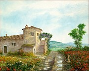 Sicily Paintings - One day in Tuscany by Luciano Torsi