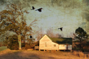 Old Houses Metal Prints - One Day It Will Be Gone Metal Print by Jan Amiss Photography