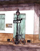 Bicycle Painting Originals - One Day by John Boles