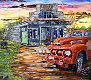 40s Painting Posters - One Evening in East Texas Poster by Terry Campbell
