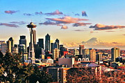 Seattle Skyline Framed Prints - One Fine Skyline Framed Print by Benjamin Yeager