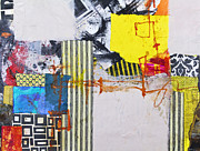 Yellow Line Mixed Media Prints - One Flew Over Print by Elena Nosyreva