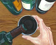 Wine Pour Painting Framed Prints - One For Me Framed Print by Jeanne Beutler