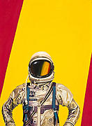 Astronaut Tapestries Textiles - One Golden Arch by Scott Listfield