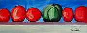 Kitchen Window Paintings - One Green Pepper by Paul Kilyanek