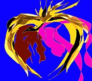 One Heart And One Soul 1 Print by Navo Art