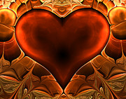 Lyrical Digital Art - One Heart by Ester  Rogers