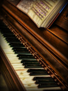 Piano Player Prints - One Last Song  -  Piano Player - Pianist Print by Lee Dos Santos