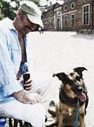 Robin B E Muirhead Esq - One man and his dog