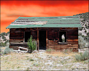 Old Cabins Photos - One Mans Dream by Lydia Warner Miller