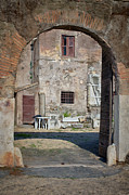 Wooden Building Prints - One Minute the Door Was Open Print by Joan Carroll