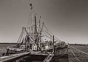 Shrimping Acrylic Prints - One More Season Acrylic Print by Debra and Dave Vanderlaan