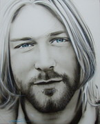 Kurt Cobain Framed Prints - One More Special Message to Go Framed Print by Christian Chapman Art