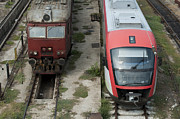 Historic Vehicle Photo Originals - One new and one old train by Deyan Georgiev