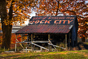 Tennessee Farm Prints - One of the Famous See Rock City Barns Print by Debra and Dave Vanderlaan