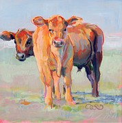 Bovine Framed Prints - One Plus One Framed Print by Kimberly Santini