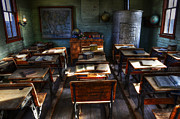 Old Relics Posters - One Room School House Poster by Bob Christopher