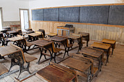 Bannack State Park Photos - One Room School House by Fran Riley