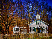 One Room Schoolhouses Prints - One Room Schoolhouse  Ulster County NY Print by Pamela Phelps