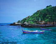 One Scenery Of Praia De Joao Fernandinho Print by Chikako Hashimoto Lichnowsky