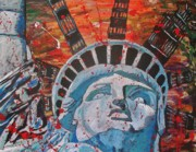 Liberty Paintings - One September Mourning by Jeremy Moore