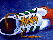 Basketball Paintings - One Shoe by Jackie Carpenter