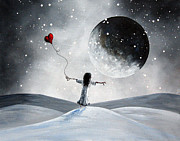 Outsider Art Paintings - One Small Dream by Shawna Erback by Shawna Erback