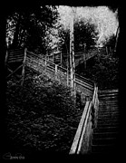 Wooden Stairs Metal Prints - One Step at a Time Metal Print by Sheena Pike