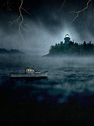 Stormy Weather Posters - One Stormy Night in Maine Poster by Edward Fielding