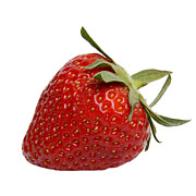 Food And Drink Art - One strawberry by Bernard Jaubert