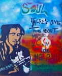 Free Speech Painting Prints - One Thing About Music Print by Tony B Conscious