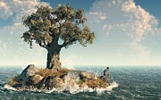 Biblical Digital Art - One Tree Island by Daniel Eskridge