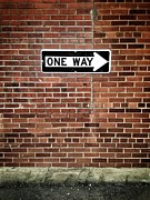 One Way Prints - One Way Only...MY WAY Print by Larysa Luciw