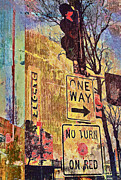 Uptown Digital Art Prints - One Way to Uptown Print by Susan Stone