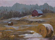 Rural Snow Scenes Originals - One Wintry Day by Bev Finger