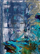Woman Mixed Media - One With All by Nancy TeWinkel Lauren