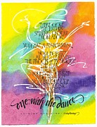 Shirley Painting Prints - One with the Dance Print by Sally Penley