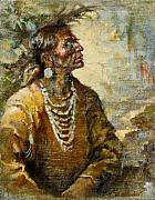 Plains Indian Paintings - One With the Earth by Ellen Dreibelbis