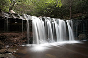 Ledge Photos - Oneida Waterfall Wearing a Summer Veil by Gene Walls