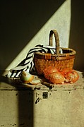 Table Top Framed Prints - Onion Basket Framed Print by Diana Angstadt