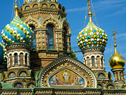 Onion Domes Art - Onion Domes Saint Petersburg Russia by Robert Ford