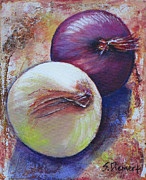 Healthy Eating Paintings - Onions II by Sheila Diemert