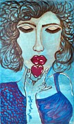 Adriana J Garces Paintings - Only Feed Me Love by Adriana Garces